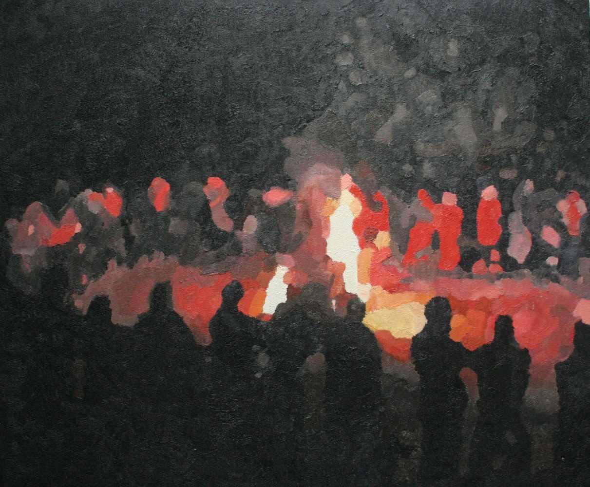 Foc de Sant Joan 60 x 50 cm februari 2010 Gent
