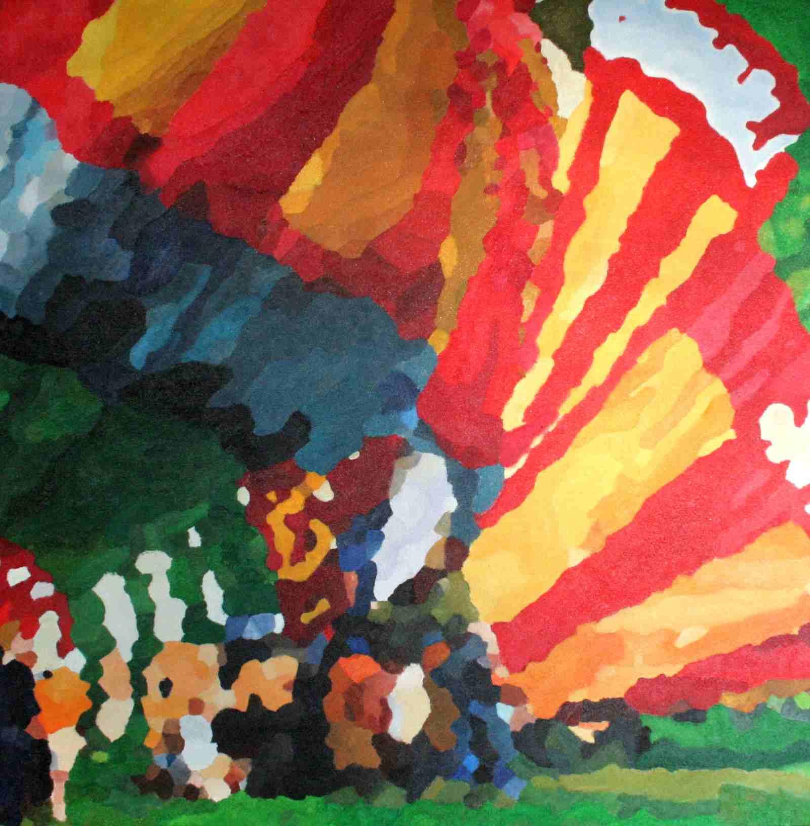 Luchtballonnen 80 x 80 cm april 2010 € 375