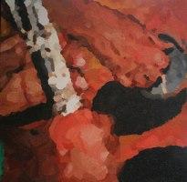 Muziek september 2010 (50 x 50 cm)