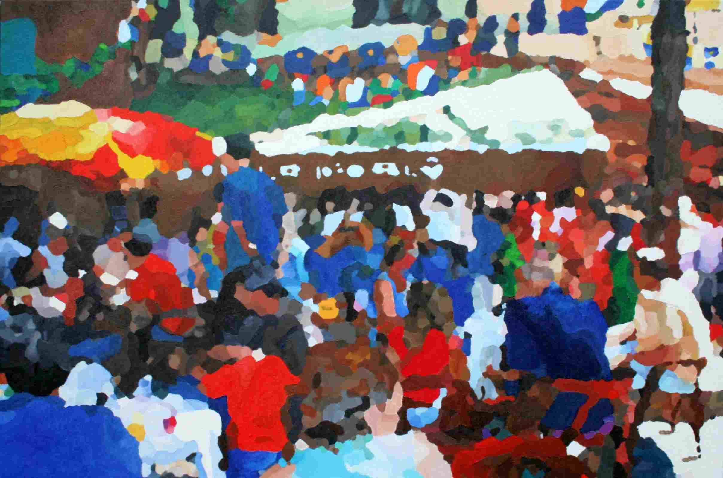 Plein in Céret 120 x 80 cm april 2011 € 520